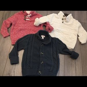 3PC Cat & Jack Button Henley/Cardigan Sweaters 3T
